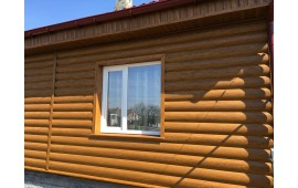 Блок-хаус - золотой дуб 3Д.